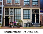 holland traditional home | Shutterstock . vector #753951421