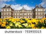 france castle in flowers | Shutterstock . vector #753955315