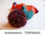 Small photo of Colorful Winter Hat With Bibble