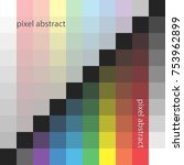 pixel color square abstract