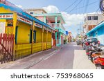 isla mujeres  cancun  mexico  ... | Shutterstock . vector #753968065