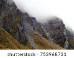 mysteriously foggy alpine... | Shutterstock . vector #753968731