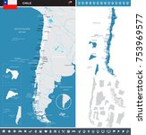 chile map and flag   high... | Shutterstock .eps vector #753969577