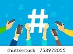 Hashtag Concept Vector...