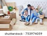 full length portrait of loving...   Shutterstock . vector #753974059