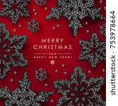 christmas background with...   Shutterstock .eps vector #753978664
