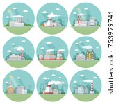 collection industrial ... | Shutterstock .eps vector #753979741