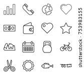 thin line icon set   graph ...