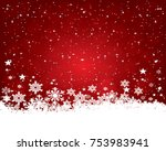 abstract christmas background... | Shutterstock .eps vector #753983941