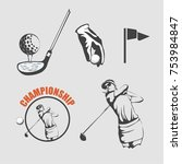 golf logo symbol   Shutterstock .eps vector #753984847