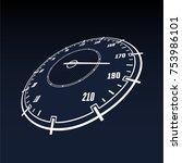 speedometer car panel. suitable ... | Shutterstock .eps vector #753986101