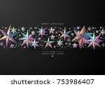 christmas background  with ... | Shutterstock .eps vector #753986407