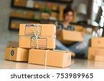 young entrepreneur  teenager... | Shutterstock . vector #753989965