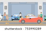 underground parking lot. cars... | Shutterstock .eps vector #753990289