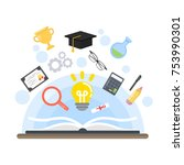 teaching concept illustration.... | Shutterstock .eps vector #753990301