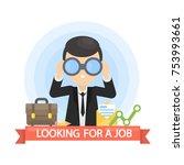 looking for a job. businessman... | Shutterstock .eps vector #753993661