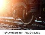 railroad cars loaded with coal  ... | Shutterstock . vector #753995281