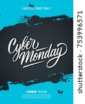 cyber monday sale promotional... | Shutterstock .eps vector #753996571