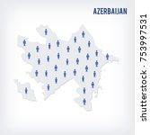 vector people map of azerbaijan ...   Shutterstock .eps vector #753997531