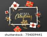 merry christmas background....   Shutterstock .eps vector #754009441