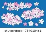 cherry blossom vector... | Shutterstock .eps vector #754010461