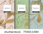 chocolate bar packaging set.... | Shutterstock .eps vector #754011484