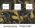 chocolate bar packaging set.... | Shutterstock .eps vector #754011487