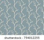 vector blue decorative seamless ...   Shutterstock .eps vector #754012255