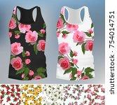 template t shirt with an trendy ... | Shutterstock .eps vector #754014751