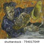 tom waits  classical jazz  ... | Shutterstock . vector #754017049