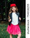 outdoor lifestyle portrait of... | Shutterstock . vector #754018255