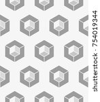 vector seamless pattern. modern ...   Shutterstock .eps vector #754019344