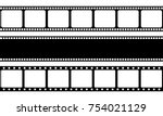 vector film strip illustration | Shutterstock .eps vector #754021129