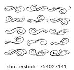 set of decorative elements.... | Shutterstock .eps vector #754027141