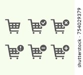 shopping carts icon collection  ...
