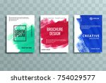 abstract brochure business... | Shutterstock .eps vector #754029577