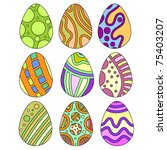 vector   colorful easter egg... | Shutterstock .eps vector #75403207