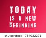 fitness motivation quote | Shutterstock . vector #754032271