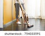 asian teenage girl using... | Shutterstock . vector #754033591