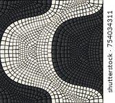lisbon pavement waves handmade... | Shutterstock .eps vector #754034311