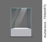 glass showcase for the...   Shutterstock .eps vector #754043971