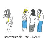 group of businessman and woman  ... | Shutterstock .eps vector #754046401