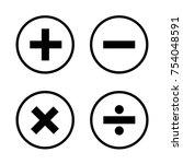 basic mathematical symbols on... | Shutterstock .eps vector #754048591