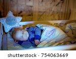 adorable newborn baby boy ...   Shutterstock . vector #754063669
