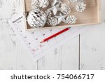 christmas calendar. christmas...   Shutterstock . vector #754066717