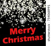 merry christmas message and... | Shutterstock .eps vector #754068991