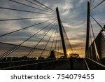 cable stay pedestrian bridge... | Shutterstock . vector #754079455