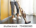 asian teenage girl using... | Shutterstock . vector #754080385