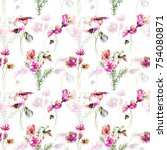 seamless pattern with original... | Shutterstock . vector #754080871