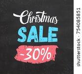christmas sale sign | Shutterstock .eps vector #754085851